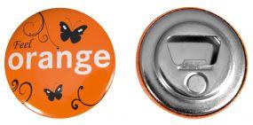 Button mit Flaschenöffner und Magnet inkl. 4c-Werbedruck als Werbeartikel