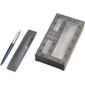 Jotter Präsentset blau mit Stifthülle als Werbeartikel