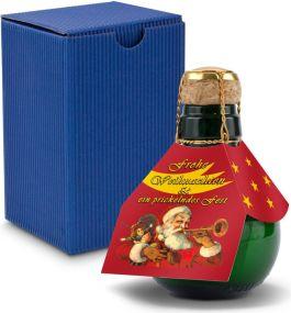 Origineller Sekt im Geschenkkarton, 125 ml - Weihnachtsdesigns als Werbeartikel