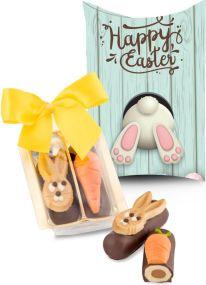 Kleines Oster-Duo in individueller Kissenverpackung optional als Werbeartikel