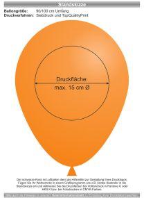Luftballons - Natur Pur! 90/100 mit 1c-Siebdruck als Werbeartikel