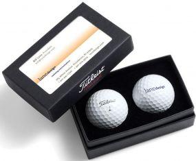 Titleist Golfbälle Visitenkarten-Box als Werbeartikel