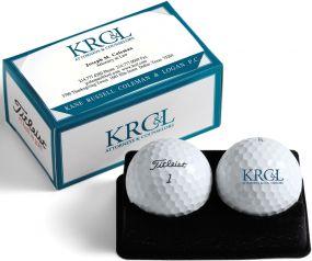 Titleist 2er Ballverpackung Kartenbox inkl. 4c-Druck als Werbeartikel