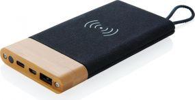 Wireless Charging Powerbank Bamboo X als Werbeartikel
