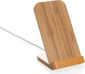 Bambus 5W Wireless Charging Halter als Werbeartikel