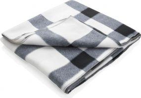 Weiche karierte Fleece-Decke als Werbeartikel