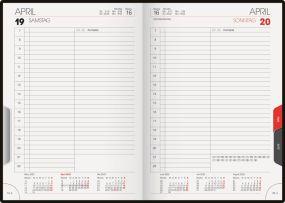 Buchkalender Chef-Timer Tab blackline als Werbeartikel