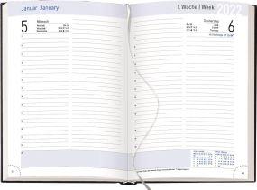 Buchkalender Chef-Timer Balaton blueline als Werbeartikel