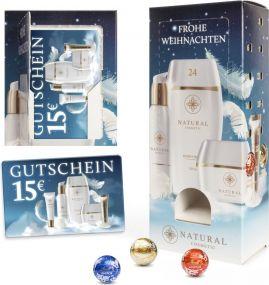 Lindt Lindor Adventsspender Turm mit Geschenkkarte als Werbeartikel