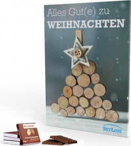Rettergut mixschokolade Adventskalender Eco, Hochformat als Werbeartikel