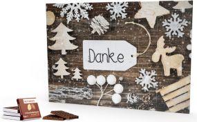 Rettergut mixschokolade Adventskalender Eco, Querformat als Werbeartikel