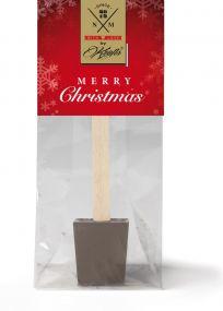 Trinkschokolade am Holzlöffel