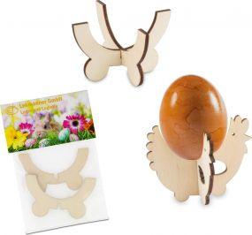 Steck-Eierbecher Huhn mit Lasergravur als Werbeartikel