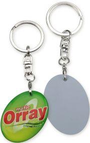 Schlüsselanhänger Flex Keyring < 5cm² als Werbeartikel