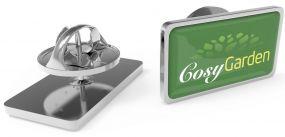 Metal Pin rechteckig Small Schmetterlingsverschluss als Werbeartikel