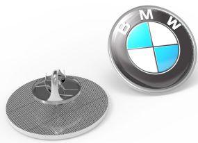 Metal Pin rund Schmetterlingsverschluss Ø 22 mm als Werbeartikel