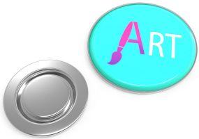 Metal Pin rund mit Magnet Ø 22 mm als Werbeartikel