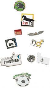 Pin (Metall-Anstecker aus Eisen) als Werbeartikel