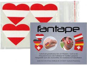Fantape Herz 4er-Set Österreich als Werbeartikel