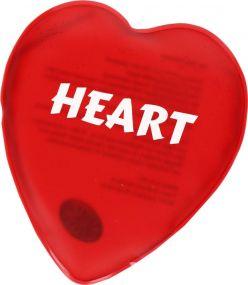 Gel-Wärmekissen Herz als Werbeartikel