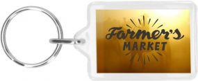 Schlüsselanhänger Inlay 35 x 24 als Werbeartikel