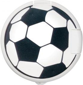 Mint-Spender rund Fußballdruck als Werbeartikel