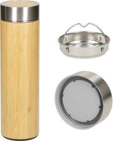 Vakuum Flasche Bambus, large als Werbeartikel