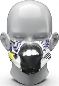 Community-Maske Common als Werbeartikel