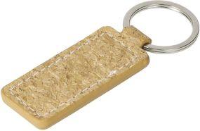 Schlüsselanhänger Kork, eckig als Werbeartikel