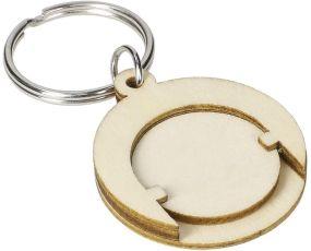 Holzchip-Schlüsselanhänger Round als Werbeartikel
