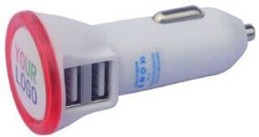Kfz Ladegerät zwei Ausgänge Dual USB Car Charger als Werbeartikel