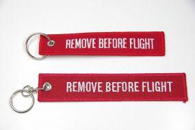 "Schlüsselanhänger Sonderanfertigung ""Remove Before Flight""- oder anderes Motiv als Werbeartikel"