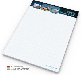 Schreibblock A6, 50 Blatt als Werbeartikel