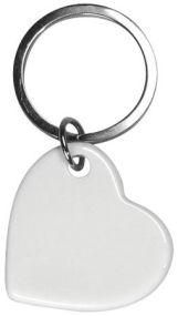 Keyfobs Porzellan Schlüsselanhänger Herz als Werbeartikel