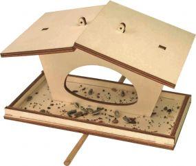 Vogelfutterhäuschen im Einzelkarton als Werbeartikel