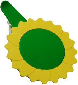 Glasabdeckung mit Clip Sunflower als Werbeartikel
