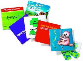 Pocket Pflastermäppchen mit 10 Pflastern als Werbeartikel