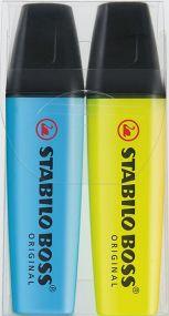 Stabilo BOSS ORIGINAL 2er-Set Leuchtmarkierer als Werbeartikel