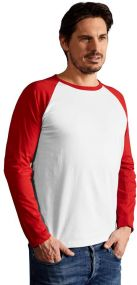 Promodoro Herren Baseball T-Shirt Langarm als Werbeartikel