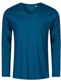 Promodoro X.O Herren Langarm T-Shirt mit V-Ausschnitt als Werbeartikel