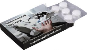 Medizinbox mit Blister Pfefferminz als Werbeartikel