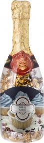 Champagnerflasche mit Pralinen als Werbeartikel