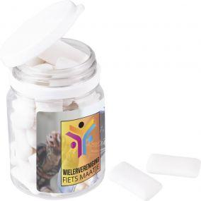 Dose mit zuckerfreien Kaugummis als Werbeartikel