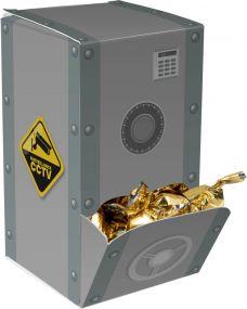 Displaybox Tresor als Werbeartikel