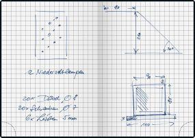 Handwerkernotizbuch DIN A6 als Werbeartikel
