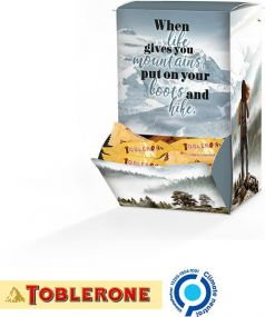 Display Box Toblerone Mini, Mointains Design als Werbeartikel