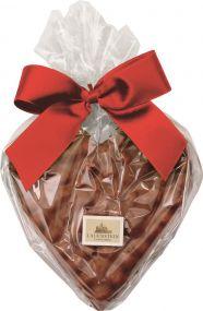 Schokolade Nuss an Nuss - Herz als Werbeartikel