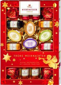 Marzipanerie im Weihnachtsschuber als Werbeartikel