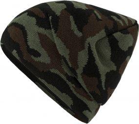 Strickmütze mit modischem Camouflage-Design als Werbeartikel