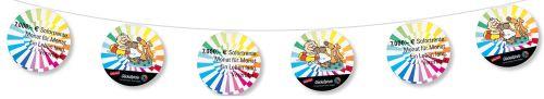 Fahnenketten aus Papier, 4-farbig als Werbeartikel